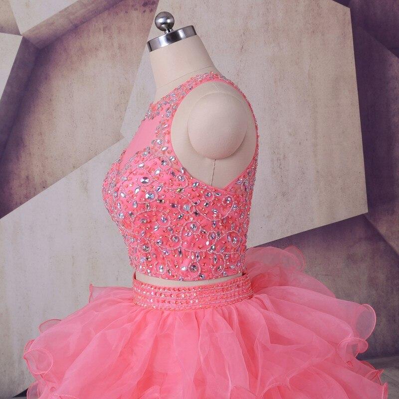 Peach Quinceanera Dresses 2019 LORIE Vestidos De 15 Anos Ruffles - Gaun acara khas - Foto 4