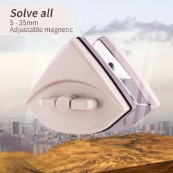 Regulowany magnetyczny szczotka do czyszczenia szkła do mycia okien akwarium szklane magnes do czyszczenia wycieraczek szczotki do 5 35mm 3 24mm szkło w Szczotki do czyszczenia od Dom i ogród na