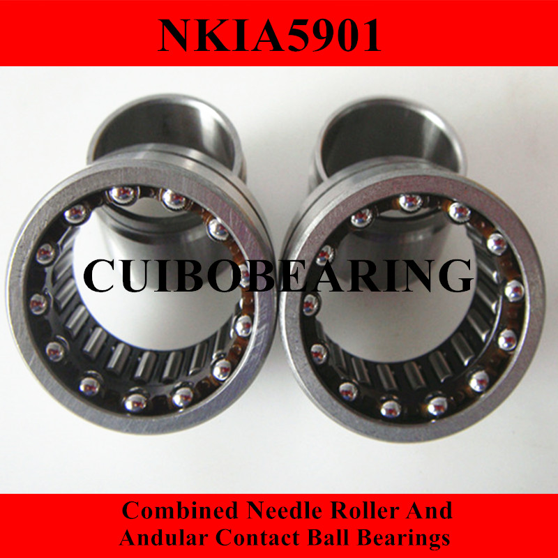 NKIA  Combined Needle Roller And Angular Contact Ball Bearing NKIA5901 12X24X16 0 25mm 540 needle skin maintenance painless micro needle therapy roller black red