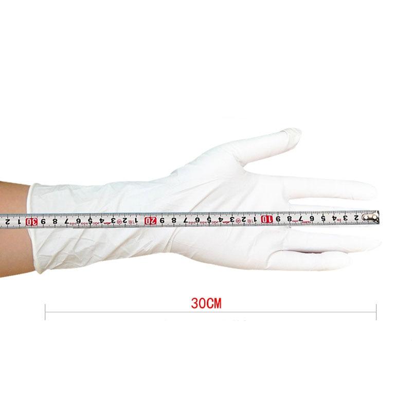 100 vnt ilgos vienkartinės nitrilo latekso medicininės pirštinės, - Sauga ir saugumas - Nuotrauka 4