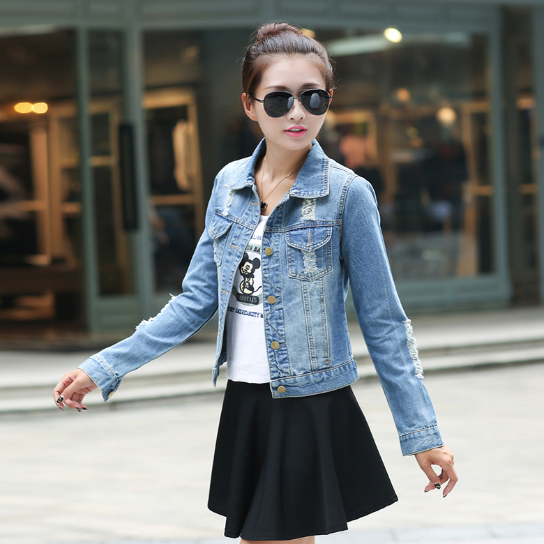 Aliexpress.com : Buy New 2015 Women Denim Jackets Tops Spring ...