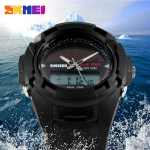 Image 3 - SKMEI 2016 Men Sports Watches SOLAR POWER LED Digital Quartz Watch Outdoor Mens Wristwatches Fashion Solar Power Military Watch