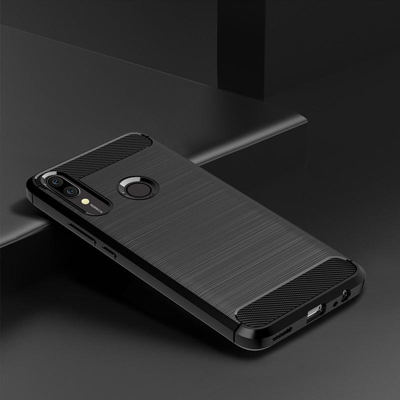 Para Huawei P Smart Z Funda de silicona robusta Armadura Cubierta trasera suave Funda Para HUAWEI P Teléfono inteligente Z Fundas fundas coque