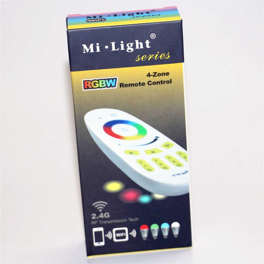 Mi Nhẹ 1 X Màn Hình Cảm Ứng-Zone RGBW Từ Xa + 4 X DC12-24V 2.4 Gam RF Không Dây RGB Điều Khiển Cho 3528 5050 RGB LED Strip ánh sáng