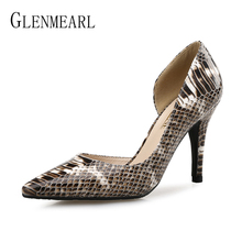 Women Pumps High Heels Casual Shoes Fashion Thin Heel Slip On Ladies Shoe Brand Pointed Toe Party Shoes Female New Plus Size DE