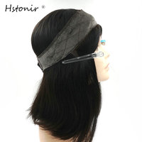 Hstonir Kosher Wig Lace Grip European Hair Front Blond Velvet Elastic I Band Invisiable Natural Hairline