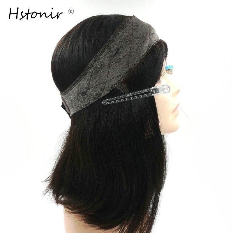 Hstonir Kosher Wig Lace Grip European R Hair Front Blond Velvet Elastic I Band Invisiable Natural Hairline Jewish Type