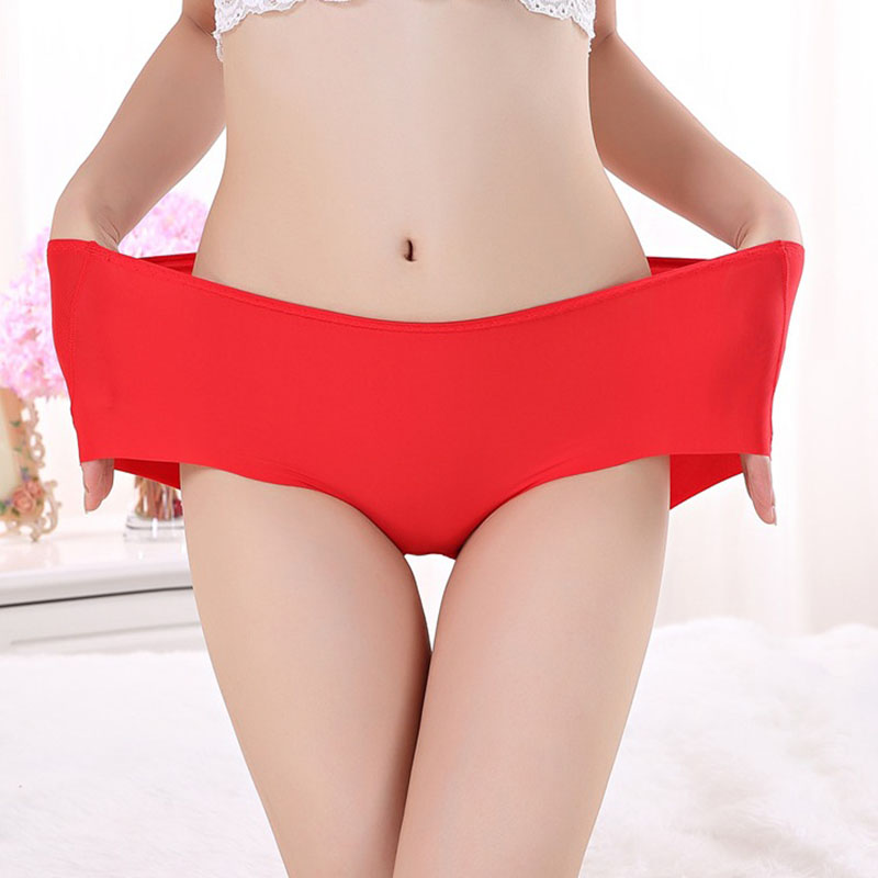 Hot Sale Ice Silk Ultrathin Quick Dry One Piece Women Seamless Large Plus Size Sexy Women's Panties Briefs Underwear