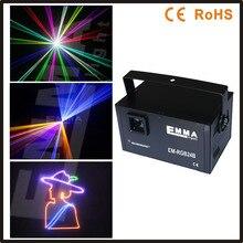 ILDA + SD + DMX + 3D Multi-Funcional de 1500 MW 1.3 w rgb láser dinámico/texto al aire libre luces lazer/festival de música/discoteca láser