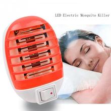 Mosquito Killing Lamps LED Electric Mosquito Fly Bug Insect Trap Zapper Killer Night Lamp US EU Plug YH-459768 цена в Москве и Питере