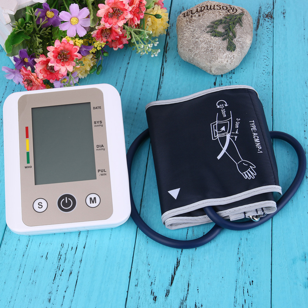 Voice Wrist Digital Intelligent Electronic Blood Pressure Monitor Automatic Heart Beat Meter Machine Tonometer Large Screen