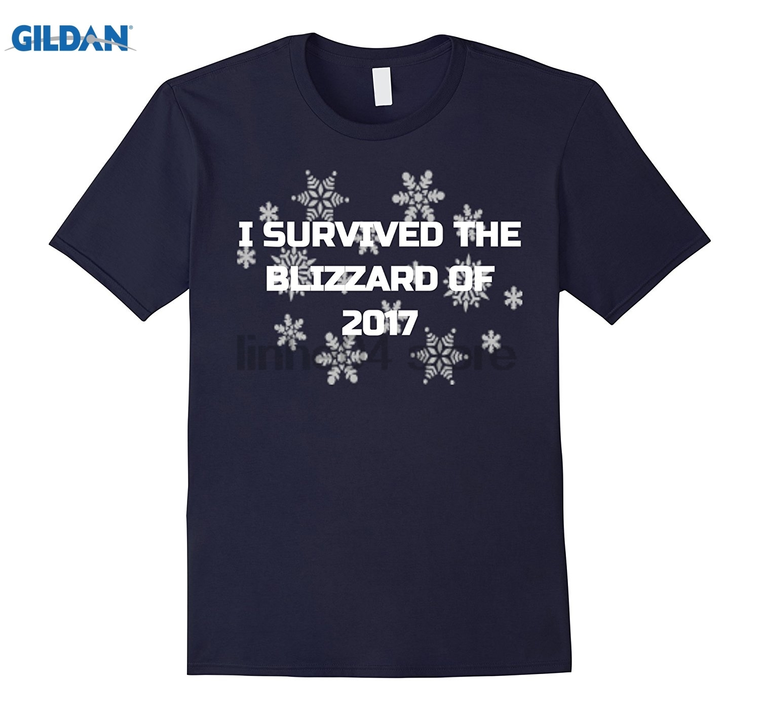 GILDAN I Survived The Blizzard of 2017 Funny Noreaster Shirt summer dress T-shirt