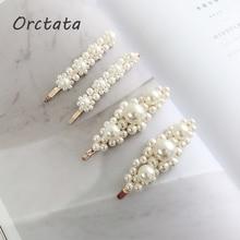 Korean Fashion Artificial Pearl Hair Clips for Women Vintage Hairpins Barrettes Headwear Ornament Girls Accessories