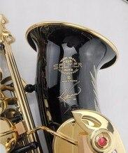 Горячая Распродажа саксофон черный альт Латунь гравировка SELMER SAS-R54 режим черного и золотого цвета саксофон музыкальные инструменты профессиональный саксофон
