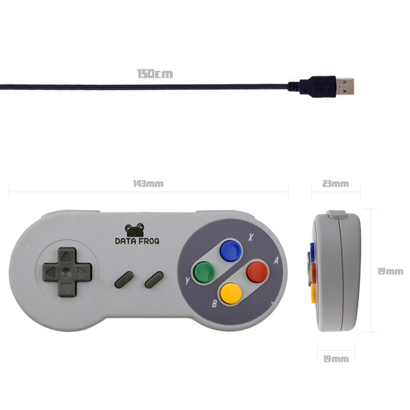 Retro Super for Nintendo SNES USB Controller for PC for MAC Controllers SEALED