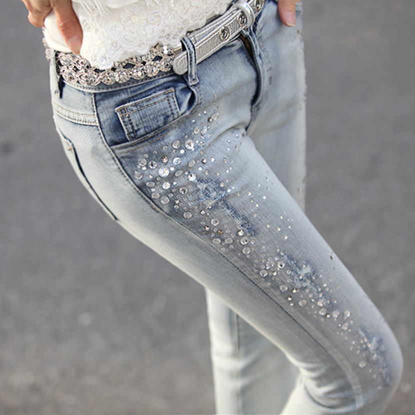 Popular Jeans with Rhinestones-Buy Cheap Jeans with Rhinestones ...