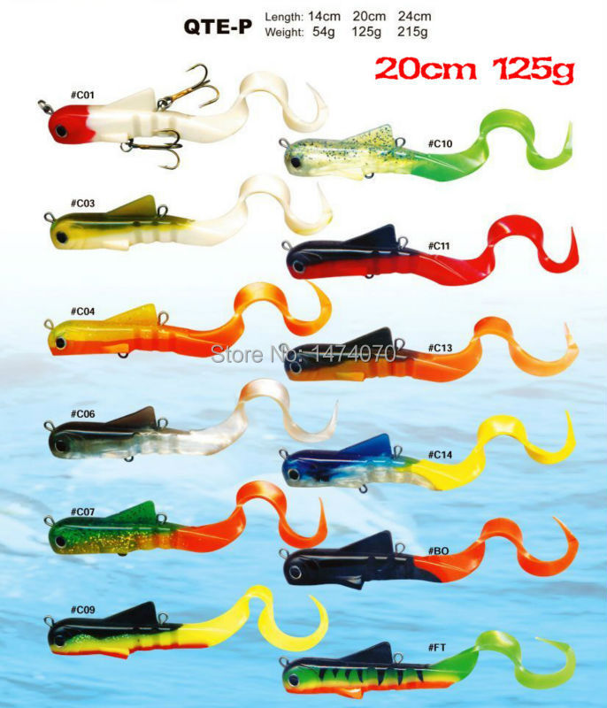 Free Shipping Grownups Toy Qte-p 20cm 125g/pc Basf Material Emulate Fish Outdoor Fun & Sports