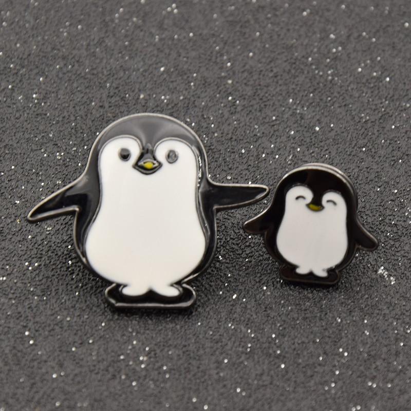 """3 m Ivoire Penguin Imprimé 100/% coton brossé tissu large 45/"""" Doux Chaud Flanelle"""