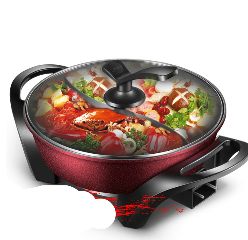 Hot Plates Mandarin duck electric hot pot, korean-type multi-functional cooking pots NEW big simulation mandarin duck a pair resin mandarin duck model about 29x15x16 5cm 1902