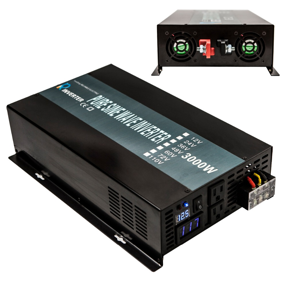 Off Grid Pure Sine Wave Home Solar Power Inverter 12V 24V 36V 48V DC to 110V 220V AC 3000W solar grid 3000w inverter power supply 12v 24v dc to ac 220v 240v pure sine wave solar power 3000w inverter reliable generator