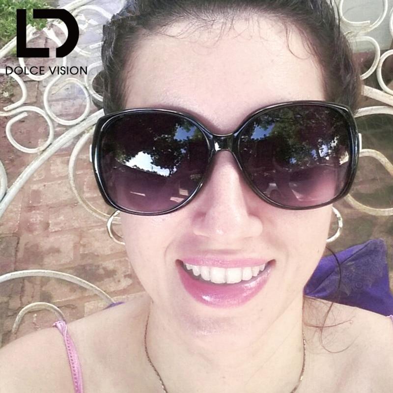 c158846cac DOLCE VISÃO 2018 Luxo Óculos Polarizados óculos de Sol Das Mulheres  Designer De Marca Oculos Feminino Legal Shades Oversize Óculos de Sol Mulher