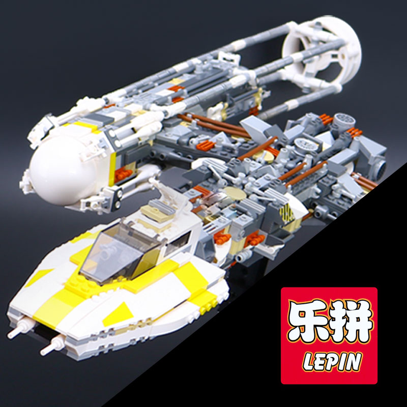 Lepin 05040 Y Attack Starfighter Wing Building Block Assembled brick Star Series War Toys Compatible with 10134 Educational Gift lepin 22001 pirate ship imperial warships model building block briks toys gift 1717pcs compatible legoed 10210