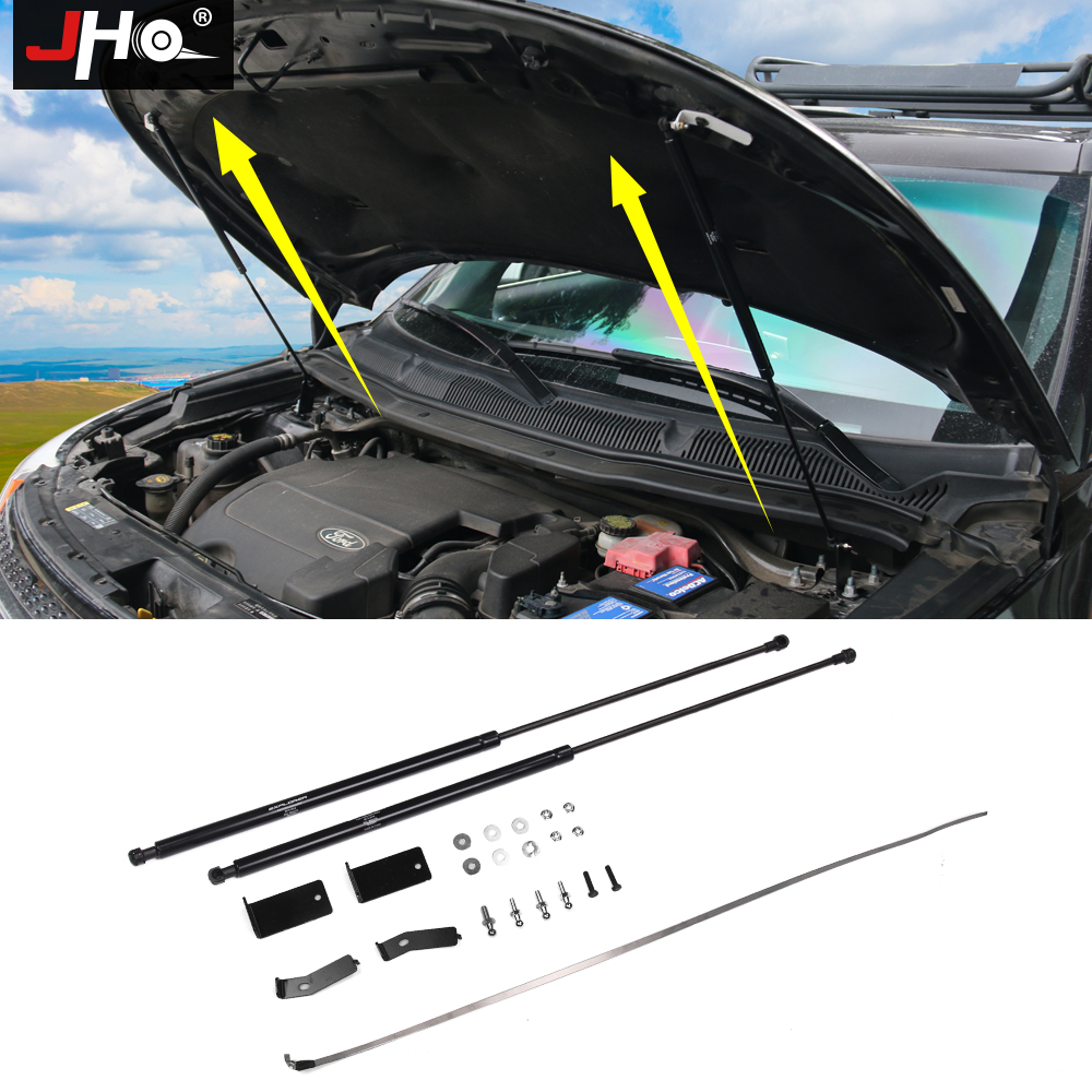 JHO Front Hood Lift Assist System Supports Gas Shock Absorber Struts Bar For Ford Explorer 2011-2019 13 2014 2015 2016 2017 2018