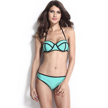 2016 bikini high waisted swimSUIT women high waisted swimwear women PINK sexy brazilian bikinis bathing suit Swimwear Bikini Top