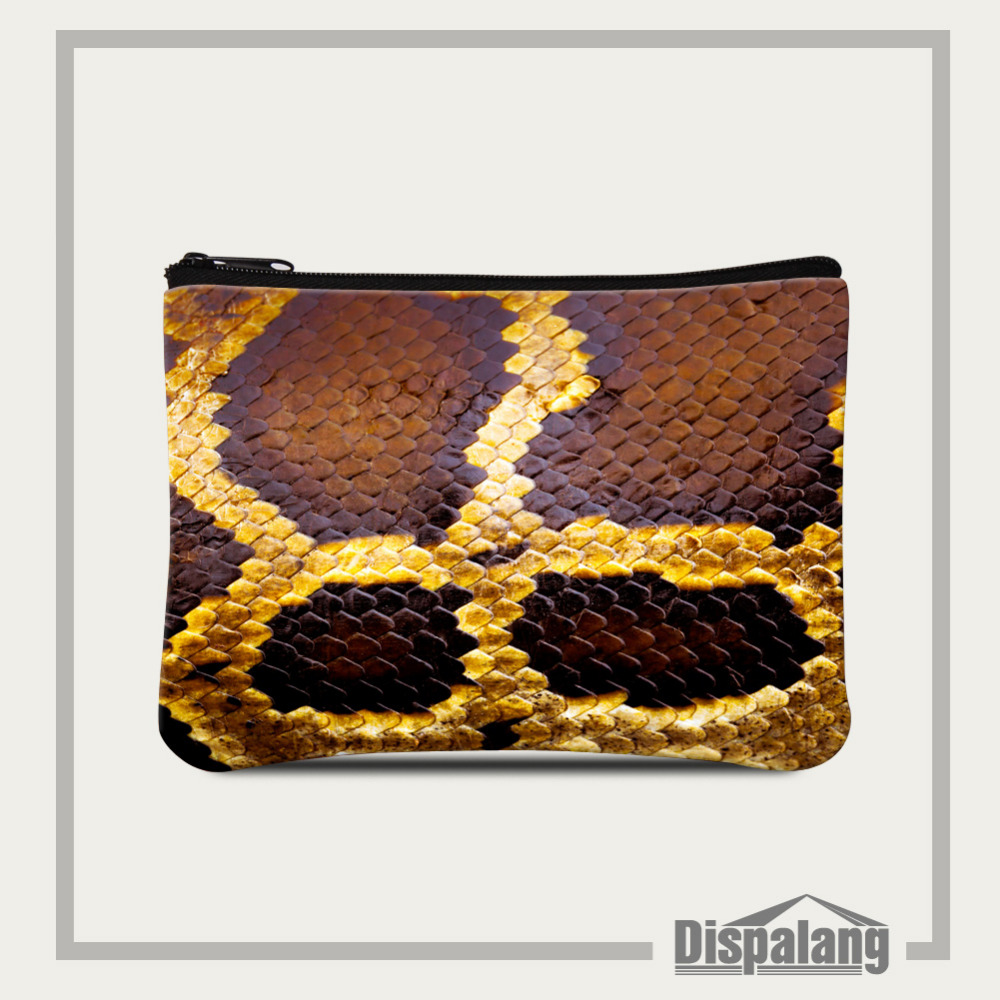 Dispalang Snakeskin Print Women Coin Purse Female Change Purse Animal Ladies Clutch Bag Small Cell Phone Bag Girls Card Package