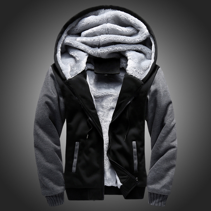 2017 fall winter new hot men brand hoodies thick warm cashmeresweater Men's youth Hoodie cardigan coat black red navy grey