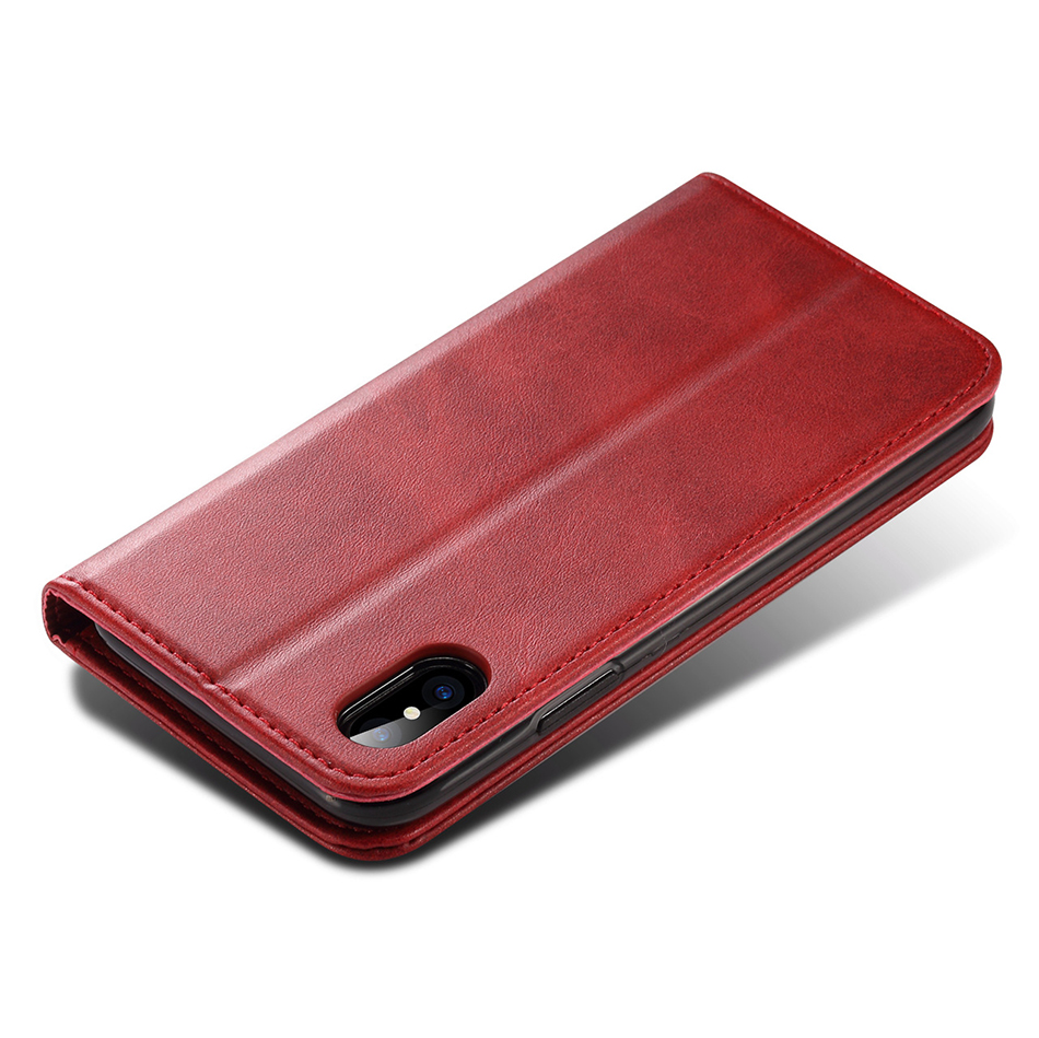!ACCEZZ Luxury Leather Phone Case Card Pocket Full Protective Cover For iphone X XS MAX XR Wallet Flip Cases Shell Stand Holder (15)