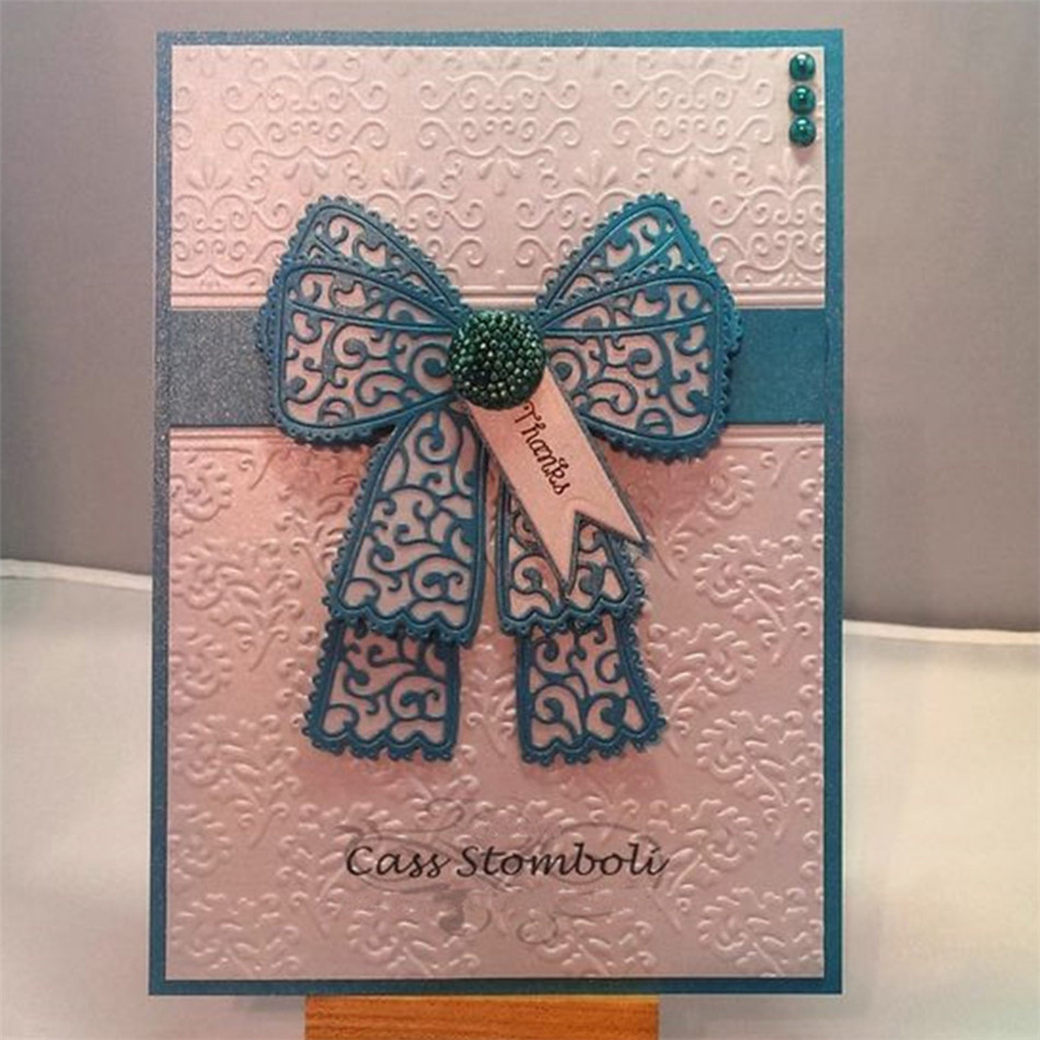 YaMinSanNiO Lace Bow Metal Cutting Dies Scrapbooking Card Making Album Embossing Crafts Die Cut for New 2019 Bow-knot DIY