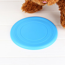 2017 Dog Frisbee Soft Flying Flexible Disc Tooth Resistant Outdoor Large Dog Puppy Pets Training Fetch Toy Silicone Wholesale
