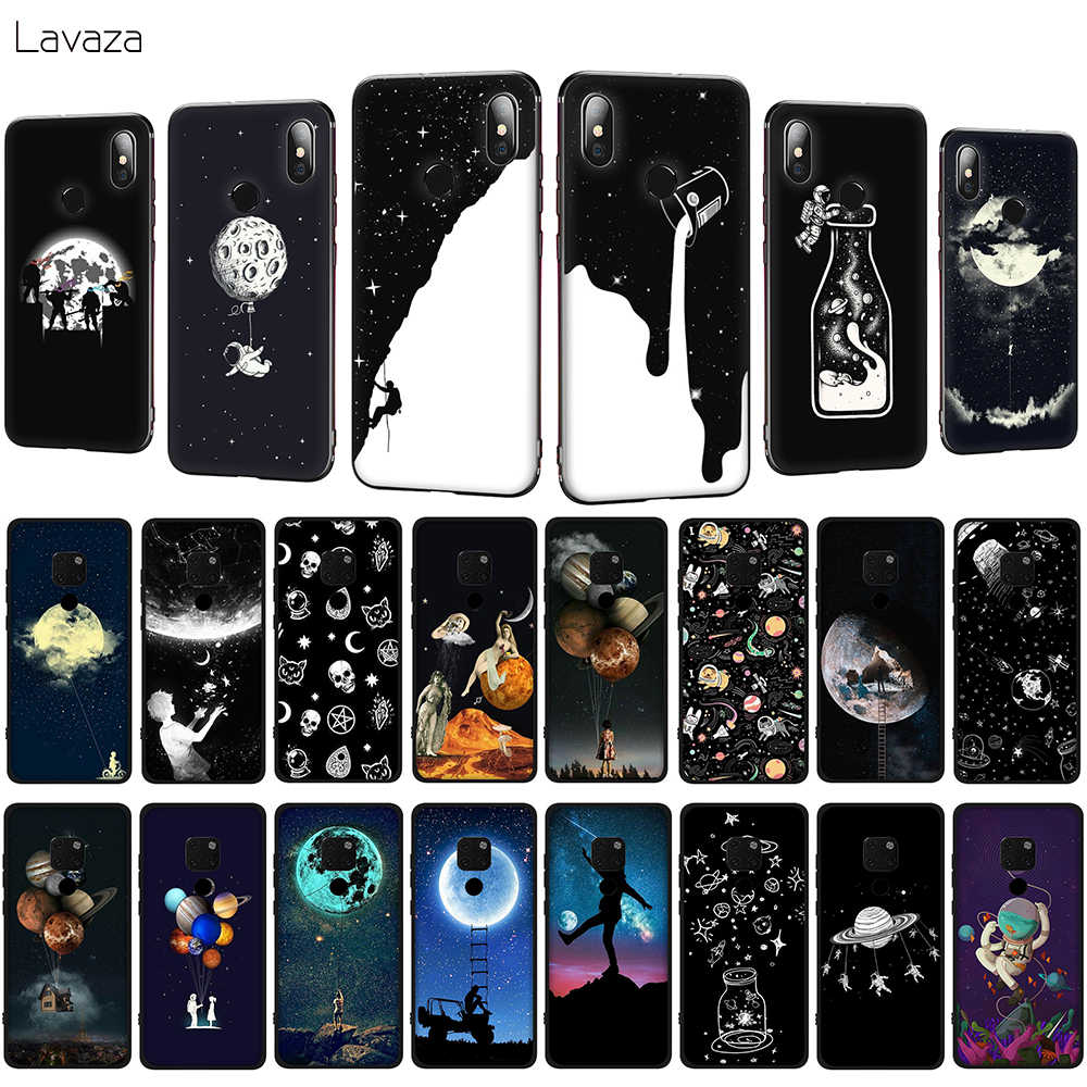Lavaza Più Nuovo Spazio Luna Astronauta Cassa Del Telefono Morbida per Huawei Mate 10 20 P10 P20 P30 Lite Pro P Smart 2019 Della Copertura di TPU