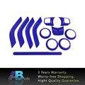 Синий ABS Chrome Руль Отделка Кондиционер Vent Интерьера Аксессуары Дверная Ручка Крышки Наборы Для Jeep Wrangler JK 11-16
