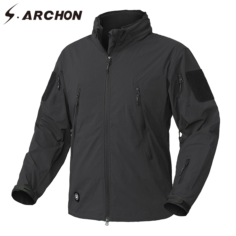S ARCHON Clothing New Autumn Jacket Coat Men Military Clothing Tactical US Army Breathable Nylon Light Outwear Windbreaker in Jackets from Men 39 s Clothing