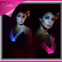 Светящееся платье, одежда, светодиодный, сексуальная юбка, волокно, платье Vestido, вечернее, светящееся, v образный вырез, сексуальное, для женщ...