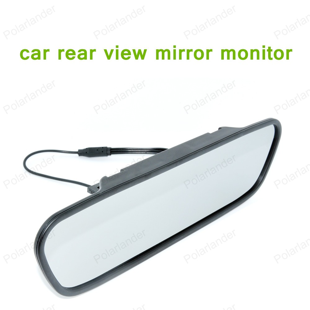 hot 5 0 inch Car Parking Mirror Monitor for DVD Camera VCR High resolution LCD 16
