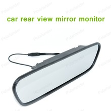 hot!! 5.0 inch Car Parking Mirror Monitor for DVD Camera VCR High resolution LCD 16:9 screen DC 12V car Monitor