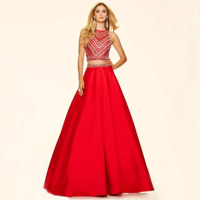2f9765c98 Bling Beading 2 Peça Vestidos Quinceanera Por 15 Anos Doce vestido de 16  Bola vestido 2