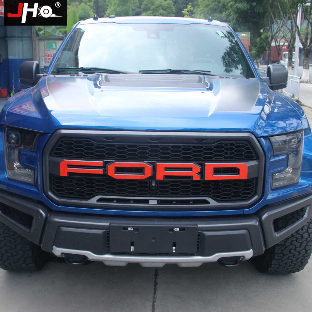 Jho Tail Hood Engine Grille Red Letters Sticker Graphics Vinyl Decal For Ford F150 Raptor 2016