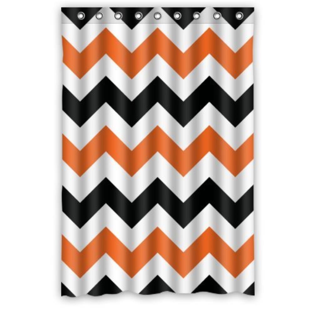 Fashion Orange And Black Zig Custom Shower Curtain Waterproof Bathroom Shower  Curtain 36 W x72 H InchOnline Get Cheap 36 Shower Curtain  Aliexpress com   Alibaba Group. Orange And Black Shower Curtain. Home Design Ideas