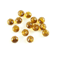 0.47Inch Dark Amber Color Glass Faceted Rondelle Crystal Beads 700Pcs/Lot Diy Jewelry Making Accessories Spacer Beads Wholesale