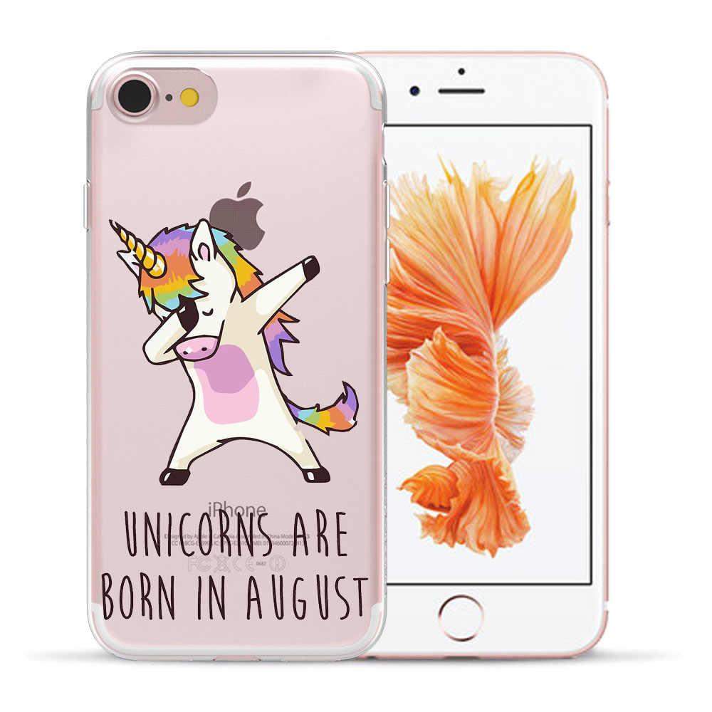 Aku Unicorn Seperti Yang Anda Inginkan Soft TPU Case For Coque iPhone 5 5S SE 6 6S 7 8 PLUS XR X 11 Pro XS Max Cool Unicorn Silikon Penutup Belakang