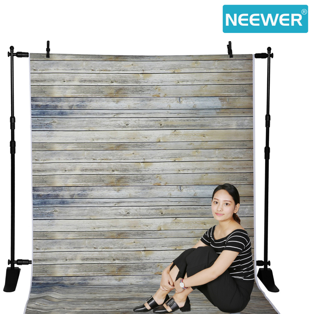 Neewer 5x7 feet/1.5x2.1 meters 100% Polyester Striped Wooden Photography Backdrop Background Vintage Wood for Studio Video Shoot new arrival background fundo heart wooden benches 7 feet length with 5 feet width backgrounds lk 2846 valentine s day