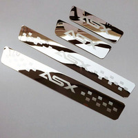 Stainless Steel Door Sill Stripl Scuff Plate for Mitsubishi ASX 2011 2012 2013 2014 Car Styling Stickers Accessories 4 Pcs