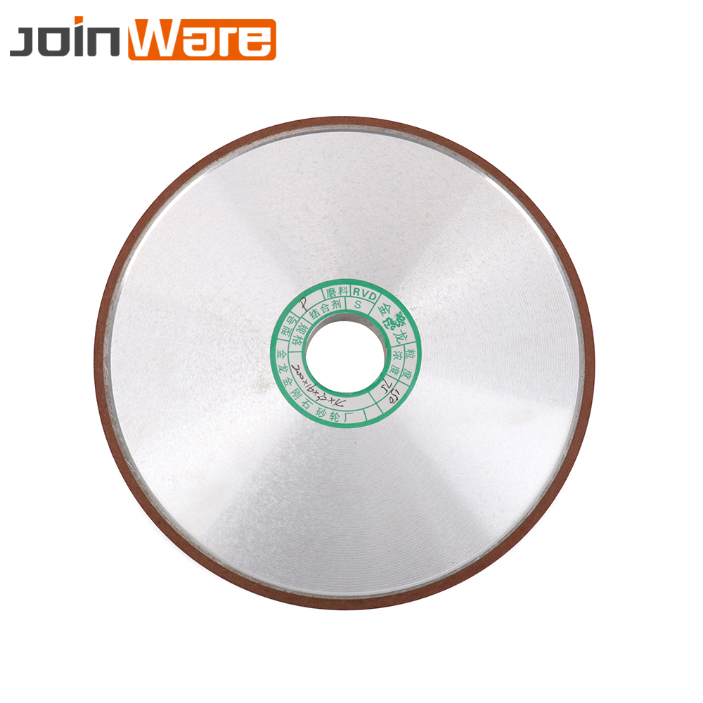200mm 150 Grit Diamond Grinding Wheel Flat Grinding Wheels Cutter Grinder Power Tool For Carbide Abrasive Thickness 10mm 12mm z lion 4 diamond cup wheel grit 30 silent core turbo cup grinding aluminum base abrasive tool for concrete granite thread m14