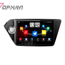 """9"""" Quad Core Android 4.4 Car PC Stereo GPS For KIA K2 2011 2012 With Radio 16 GB Flash Mirror Link Without DVD Free Shipping"""