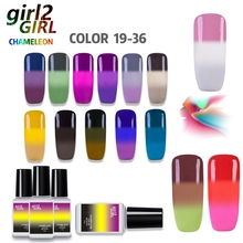 girl2Girl CHAMELEON UV GEL NAIL POLISH COLOR CHANGE VARNISH SOAK-OFF LED UV Gel Nail Polish 36 Colors Manicure 7ML WB 19-36