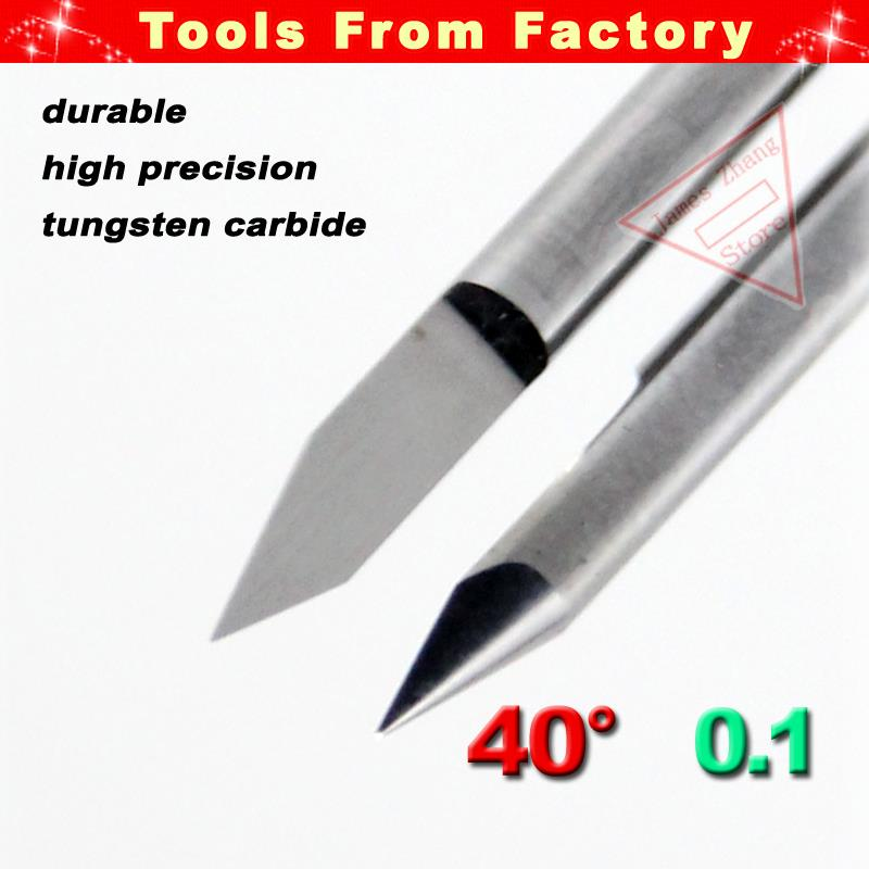 HUHAO 10pcs 10/° 3.175mm Carbide PCB Engraving Bits CNC Router Tool 0.1mm Tip V bit